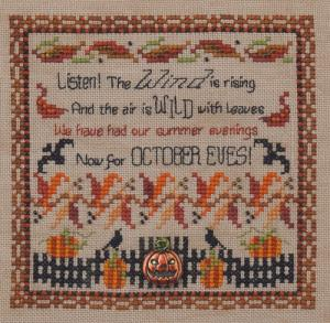 click here to view larger image of October Eves (chart with charms/buttons)