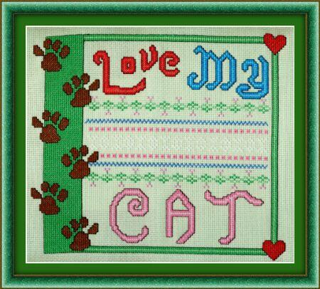 click here to view larger image of Love My Cat (chart)