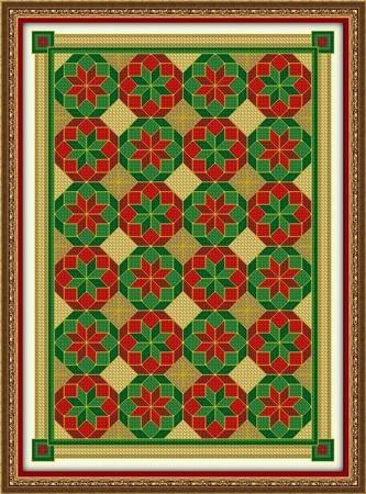 click here to view larger image of Pretty Poinsettia Quilt (chart)