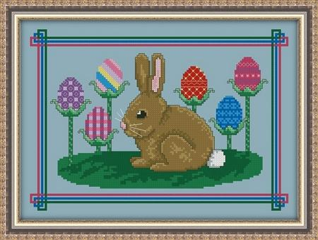 click here to view larger image of An Easter Bunnys Garden (chart)