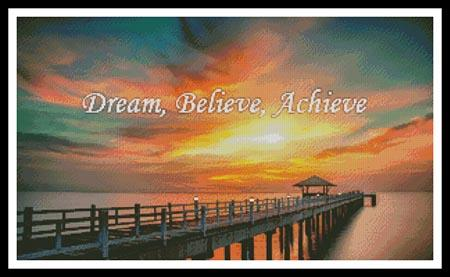 click here to view larger image of Dream, Believe, Achieve (chart)