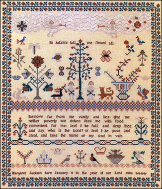 click here to view larger image of Margaret Jackson, 1806 Sampler  (chart)