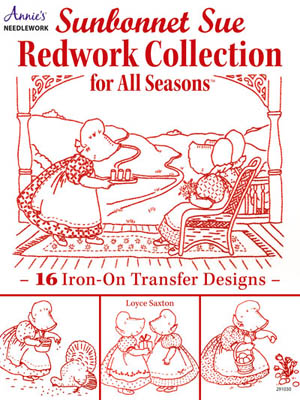 click here to view larger image of Sunbonnet Sue Redwork Collection (chart)