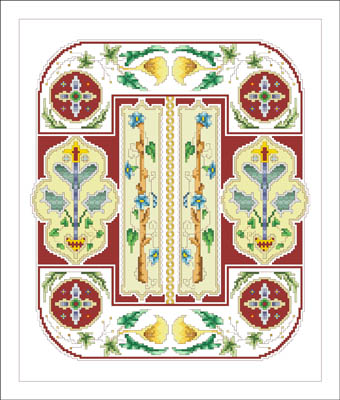 click here to view larger image of Floral Spring Plate (chart)
