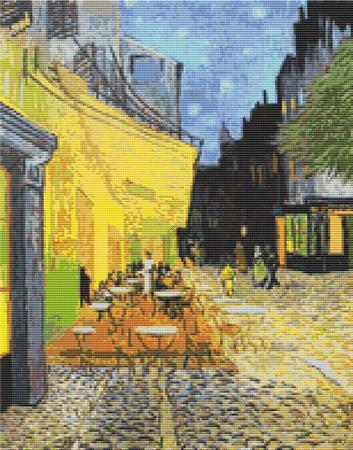 click here to view larger image of Cafe Terrace at Night (chart)