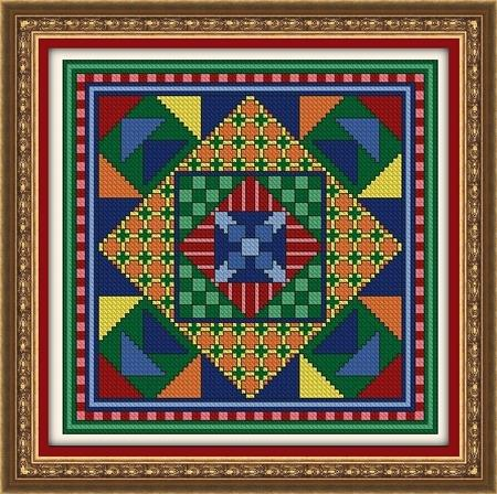 click here to view larger image of Crazy Quilt Block - Color Explosion (chart)