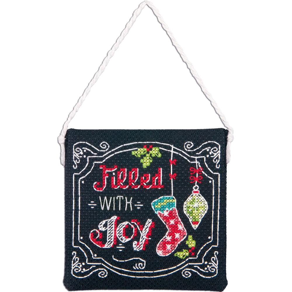 click here to view larger image of Filled With Joy Ornament (counted cross stitch kit)