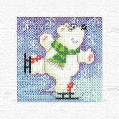 click here to view larger image of Polar Bear Christmas Cards Kit by Karen Carter (counted cross stitch kit)