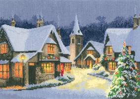 click here to view larger image of Christmas Village (27ct) (counted cross stitch kit)