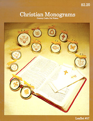click here to view larger image of Christian Monograms (chart)