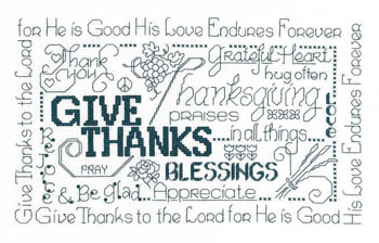 click here to view larger image of Let's Be Thankful (chart)