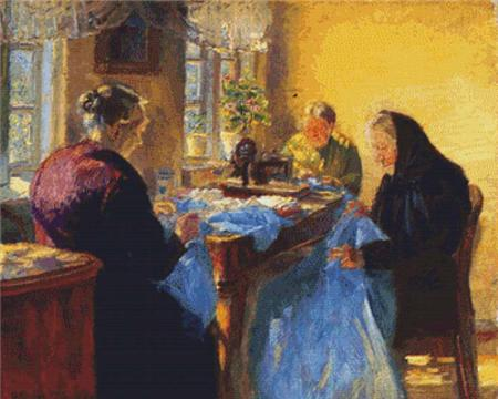click here to view larger image of Three Old Seamstresses (chart)