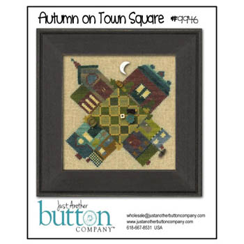 click here to view larger image of Autumn on Town Square Button Pack (with free chart) (button pack)