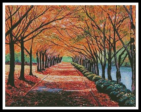 click here to view larger image of Autumn Tree Lane (chart)