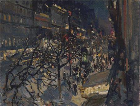 click here to view larger image of Boulevard Montmartre by Night (chart)