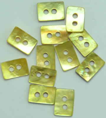 click here to view larger image of Lime Mini Rectangles Mother of Pearl Buttons (buttons)