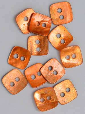 click here to view larger image of Copper Mini Square Mother of Pearl Buttons (buttons)
