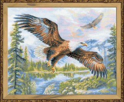 click here to view larger image of Free Fall (counted cross stitch kit)