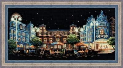 click here to view larger image of Evening Cafe (counted cross stitch kit)