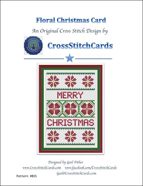 click here to view larger image of Floral Christmas Card (chart)