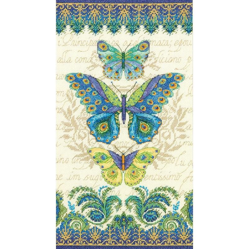 click here to view larger image of Peacock Butterflies (counted cross stitch kit)