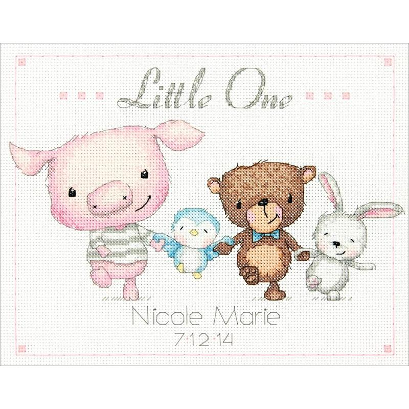 click here to view larger image of Little One Birth Record (counted cross stitch kit)