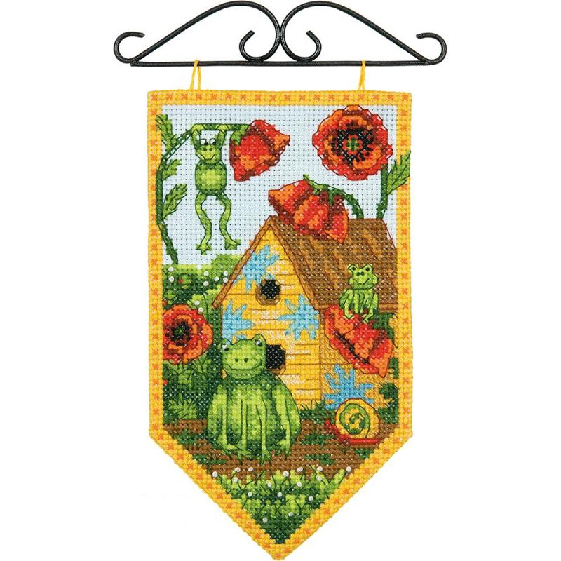 click here to view larger image of Debbie Mumm Summer Banner (counted cross stitch kit)