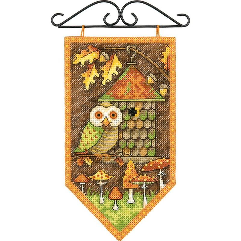click here to view larger image of Debbie Mumm Fall Banner (counted cross stitch kit)