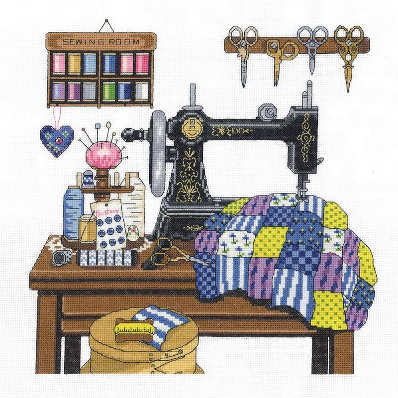 click here to view larger image of Antique Sewing Room (counted cross stitch kit)
