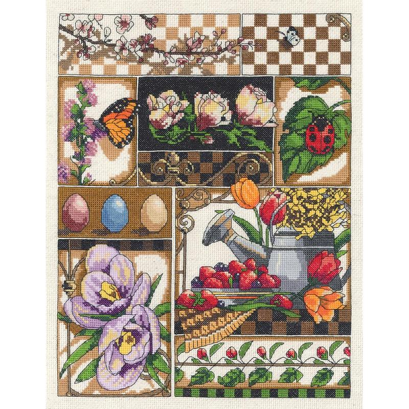 click here to view larger image of Spring Montage (counted cross stitch kit)