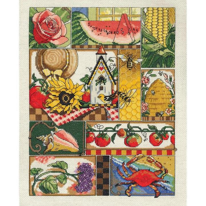 click here to view larger image of Summer Montage (counted cross stitch kit)