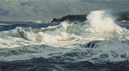 click here to view larger image of Southwesterly Gale, St. Ives  (Frederick Judd Waugh) (chart)