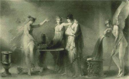 click here to view larger image of Psyche and Her Two Sisters (chart)