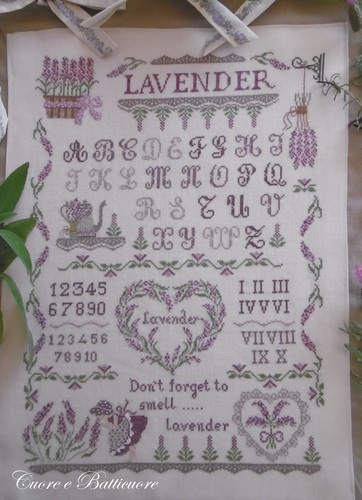 click here to view larger image of Lavender Sampler (chart)