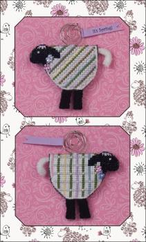 click here to view larger image of Lorelei Lamb (includes embellishments)- LIMITED EDITION KIT (counted cross stitch kit)