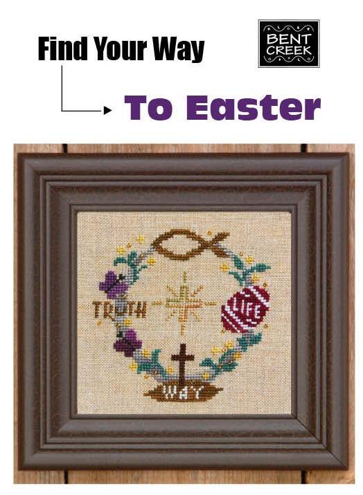 click here to view larger image of Find Your Way to Easter (chart with charms/buttons)