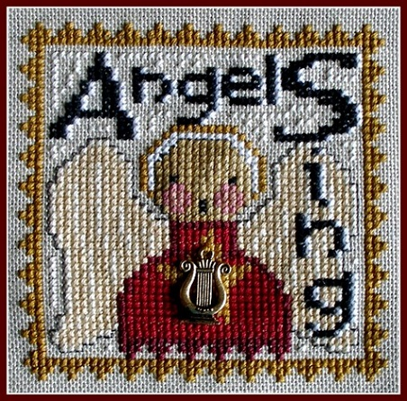 click here to view larger image of Angels Sing - Word Play (chart with charms/buttons)