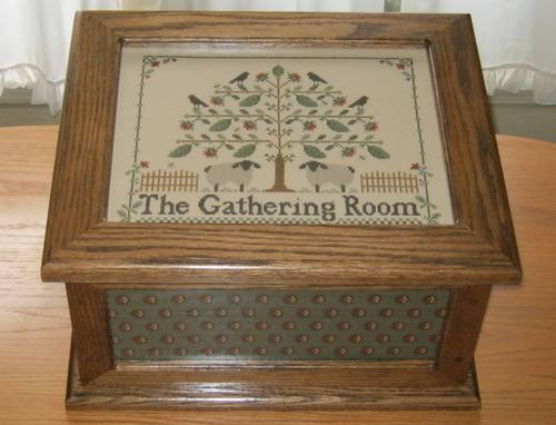 click here to view larger image of Needlework Casket - Oak (accessory)