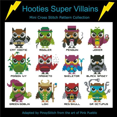 click here to view larger image of Hooties Super Villains (chart)
