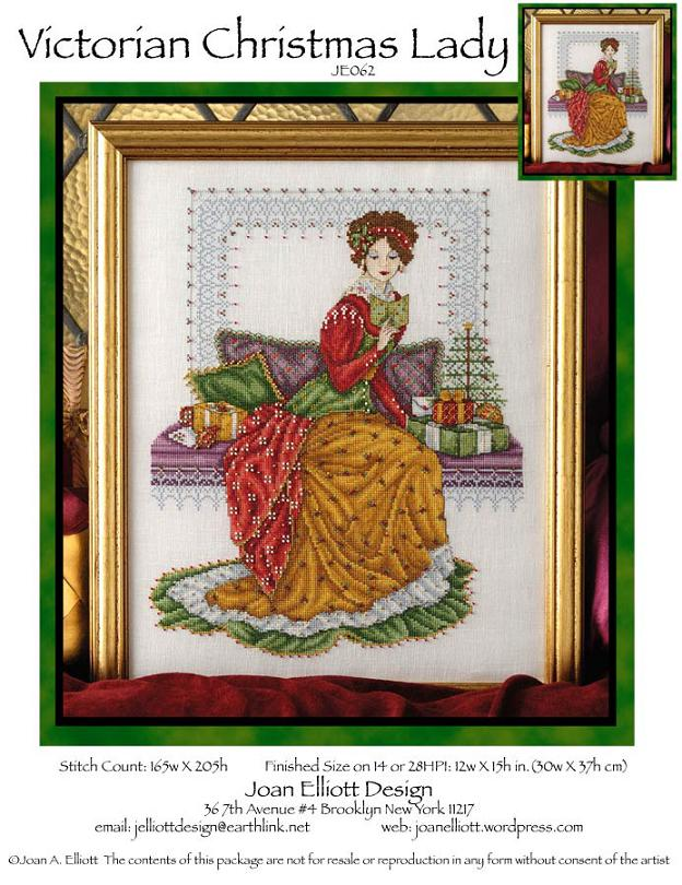 click here to view larger image of Victorian Christmas Lady (chart)