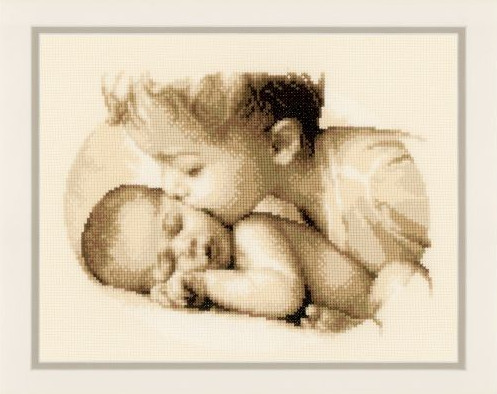 click here to view larger image of Brotherly Love (counted cross stitch kit)