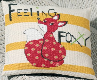 click here to view larger image of Feeling Foxy (counted cross stitch kit)
