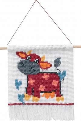 click here to view larger image of My First Kit - Cow (counted cross stitch kit)