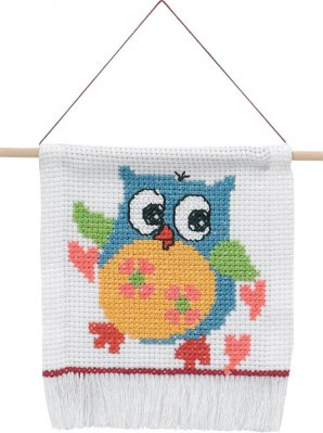 click here to view larger image of My First Kit - Owl (counted cross stitch kit)