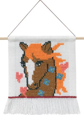 click here to view larger image of My First Kit - Horse (counted cross stitch kit)