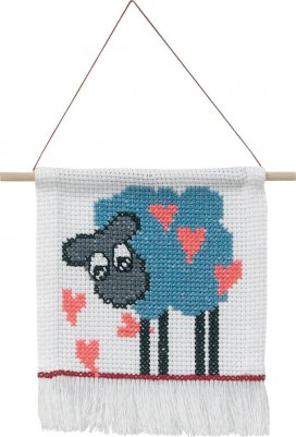 click here to view larger image of My First Kit - Sheep (counted cross stitch kit)