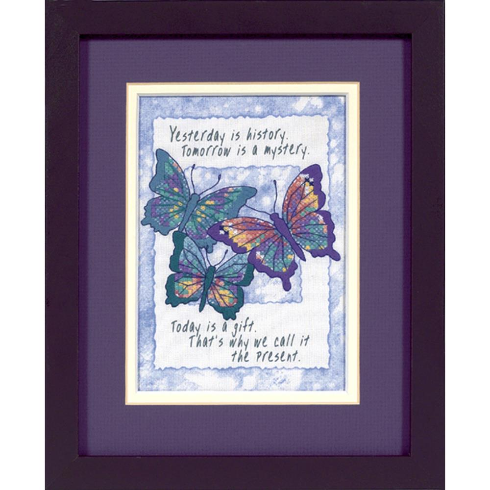 click here to view larger image of Today is a Gift - Mini Stamped Cross Stitch Kit (stamped cross stitch kit)