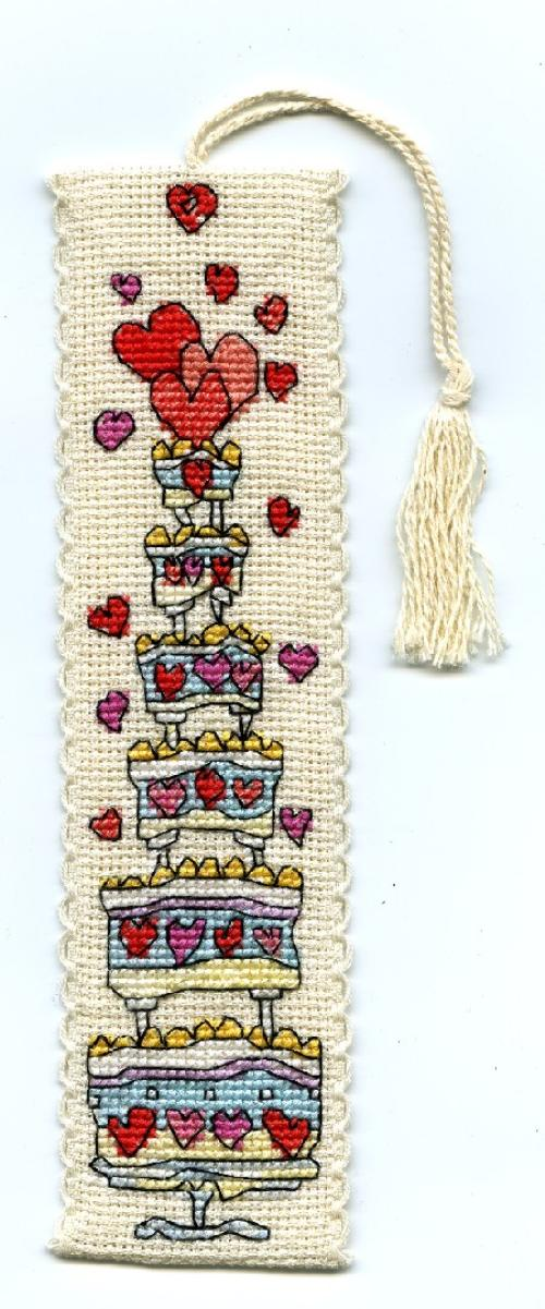 click here to view larger image of Celebration Cake Bookmark (counted cross stitch kit)