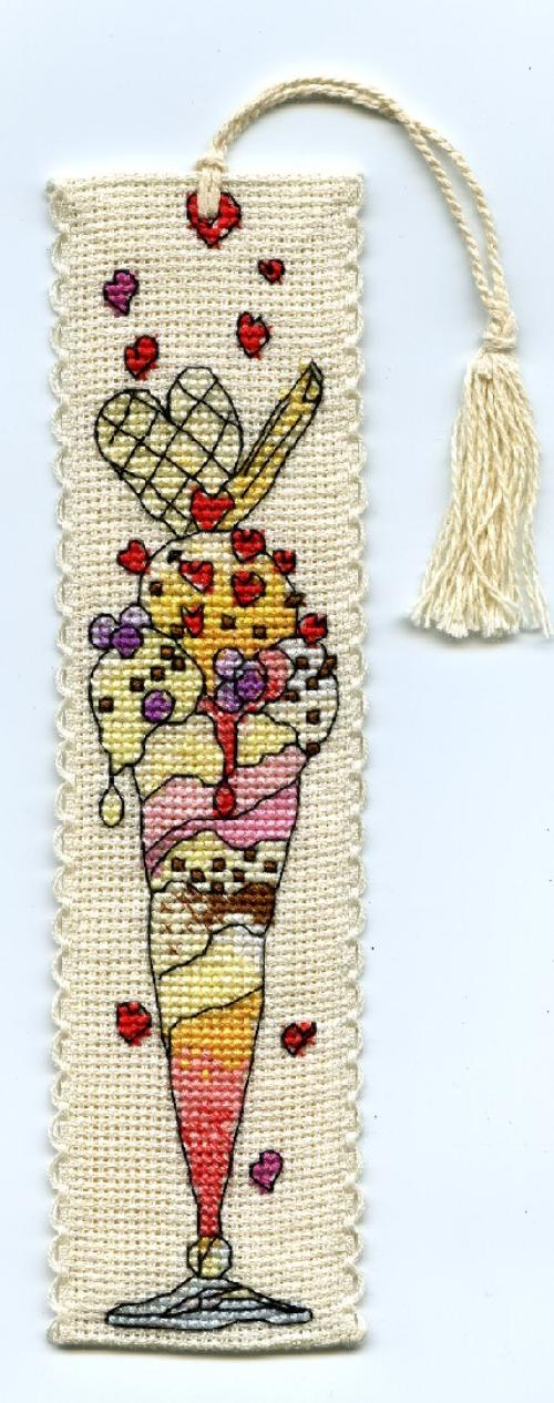 click here to view larger image of Vanilla Ice Bookmark (counted cross stitch kit)