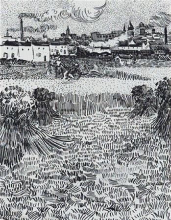 click here to view larger image of Arles - View From the Wheat Field (chart)